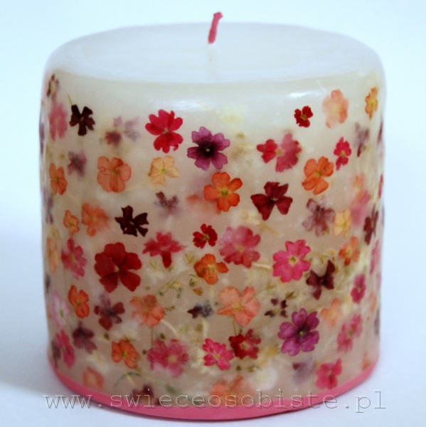 Candle with verbena, small