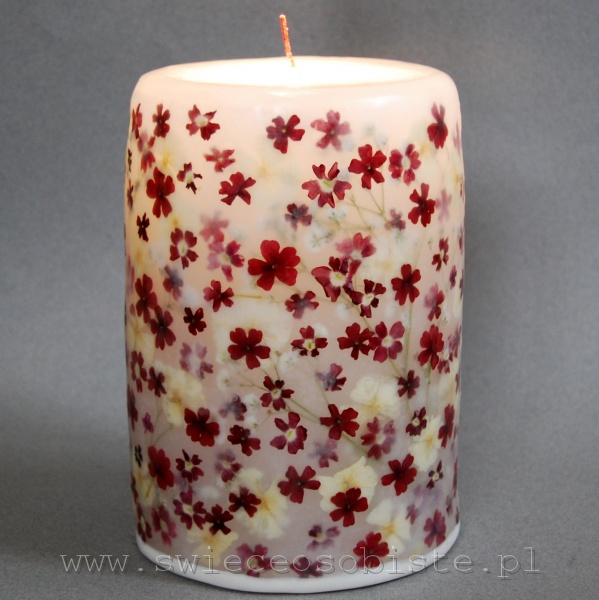 Candle with verbena, big