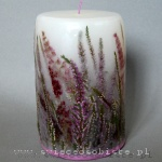 Candle with heather, big