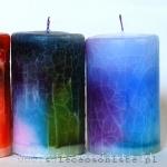 warsztaty tworzenia świec ozdobnych, kolorowych, efekt spękań