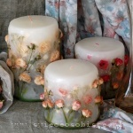 candles with roses, small, big