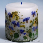 candle of meadow with cornflowers, small