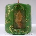 "candle with fresco from Stabiae ""Spring"" (""Proserpine"", ""Flora""), small"