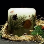 Christmas candle, small