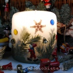 Christmas candle with toys, small
