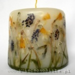 candle with spring flowers, small