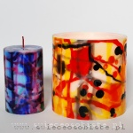 """warsztaty tworzenia świec ozdobnych kolorowych, technika """"zacieków"""""""