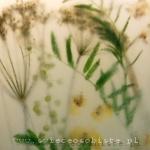 Świeca z roślinami łąkowymi, duża