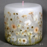 "candle ""White garden"", small"