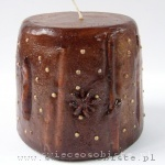 candle with cinnamon stick, anise and white pepper, small