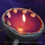 warsztaty tworzenia świec ozdobnych, świece w skorupkach z piasku