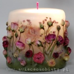 candle with roses, small
