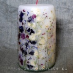 "candle ""Love"" with sweet pea, big"