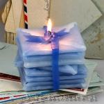 warsztaty tworzenia świec formowanych, stos listów