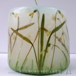 candle with snowdrops, small