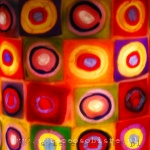 """warsztaty tworzenia świec ozdobnych, technika millefiori w świecach, """"Concentric circles"""" Kandinsky'go"""