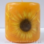 yellow candle with gerbera, small