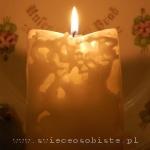 """warsztaty tworzenia świec ozdobnych, ażurowa świeca """"lodowa"""""""
