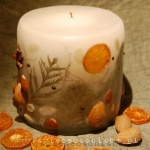 Christmas candle with almonds, small