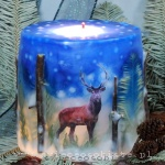 Winter Christmas candle, small